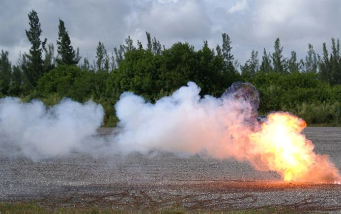 Typical bomb blast testing is done with simulated blasts out of a shock tube, which lack the data that you would get from real bomb blasts.